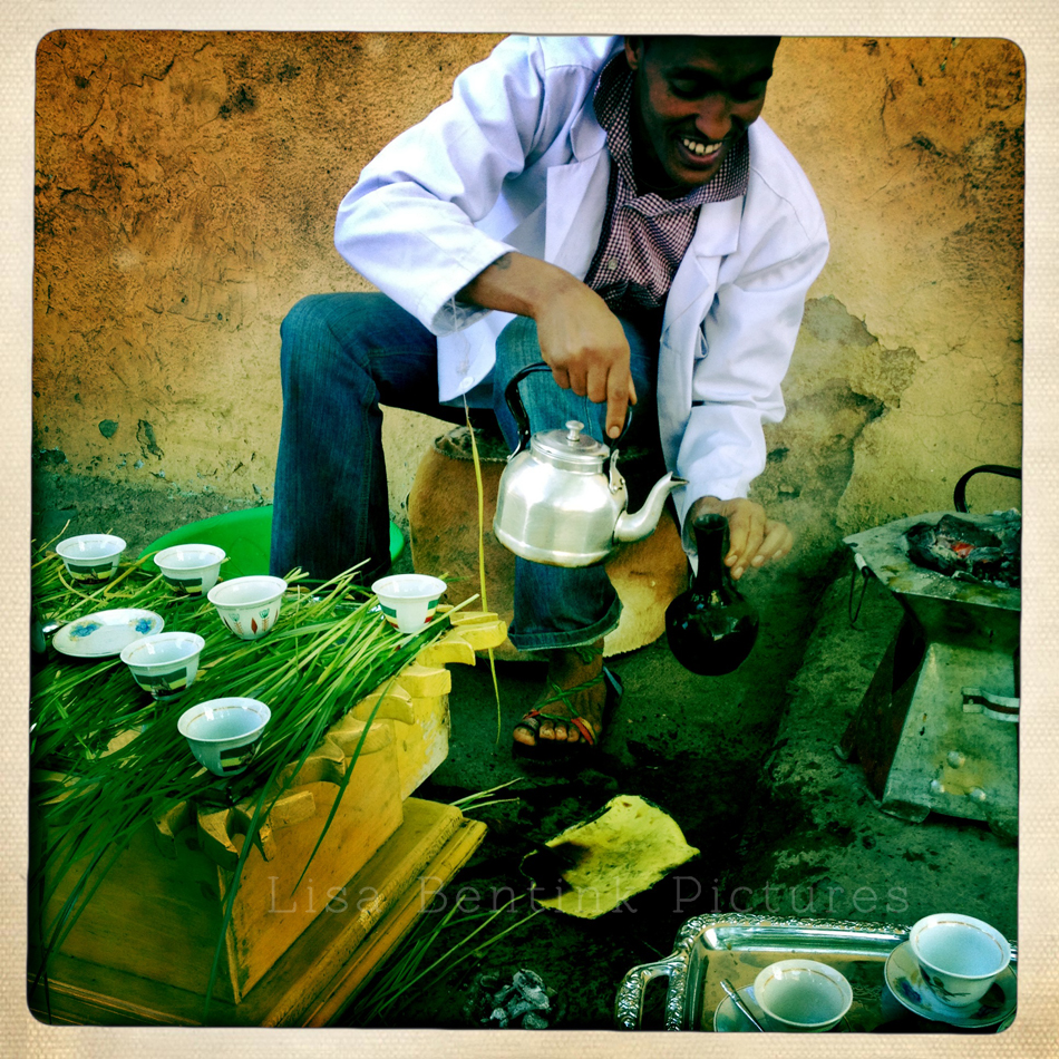 Coffee Ceromony, Gondar. Ethiopia